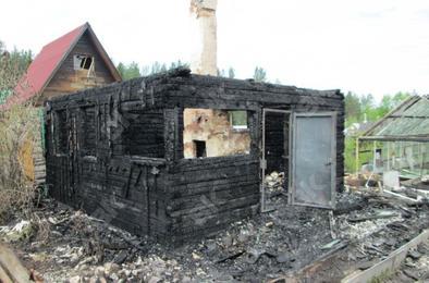 В Коркино сгорел садовый дом