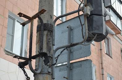 В Коркино сгорел светофор