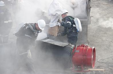 Пожары угольных пластов тушат «Вихрь» и «Натиск»