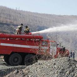 Разрез «Коркинский» продолжает борьбу с пожарами