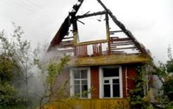В Коркинском районе сгорели четыре садовых дома