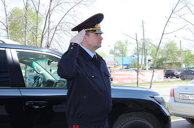В Коркино побывал генерал полиции