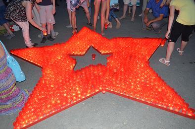 В Коркино зажгли «Звезду памяти»