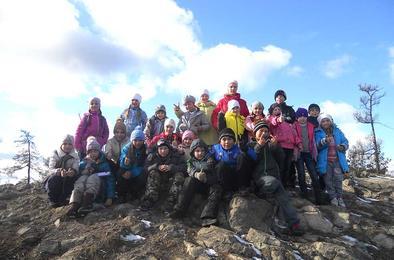 Третьеклассники Коркино покорили гору Сугомак