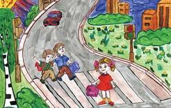 Конкурс рисунков посвятили безопасности на дороге