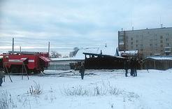 В Коркино горела баня в частном секторе