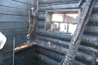 На Розе вчера  горела баня