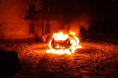 В Коркино горели три автомобиля