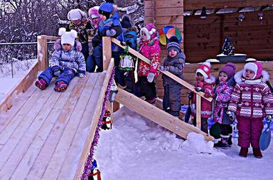 В коркинском детсаду создали снежную сказку