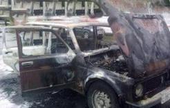 В Коркино столкнулись две машина, одна загорелась