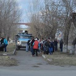 В Коркино прошёл первый массовый субботник