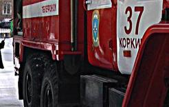 В Коркино вчера горел жилой дом