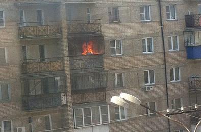Сегодня в Коркино в пятиэтажке горела квартира