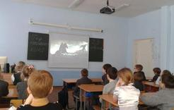 В Коркино открыли кинозал в учебном классе