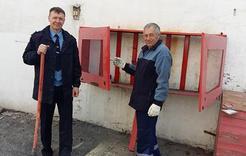 Полицейские Коркино провели субботник