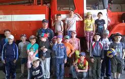 Школьники побывали в гостях у пожарных Коркино