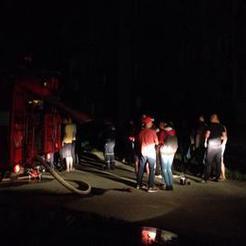 Сегодня ночью в Коркино случился пожар в многоквартирном доме