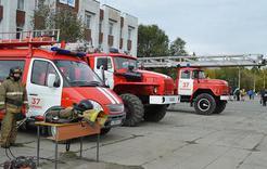 В Коркино устроили выставку пожарно-спасательной техники
