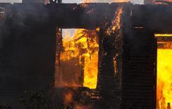 Ночью на пожаре погиб житель Коркино