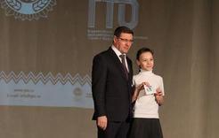 Школьникам вручили значки ГТО
