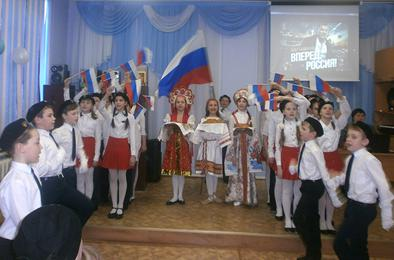 Коркинские школьники пели солдатские песни