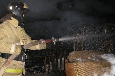 В Коркино ночью горел частный дом