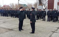 В Отделе МВД России по Коркинскому району прошёл строевой смотр