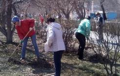 Коркинцы активно участвуют в весенних субботниках