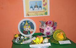 Детсадовцы устроили выставку работ на пасхальную тему