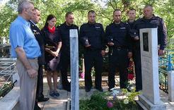 В Коркино сослуживцы почтили память погибшего товарища
