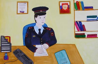 Дети Коркино нарисуют полицейскую семью