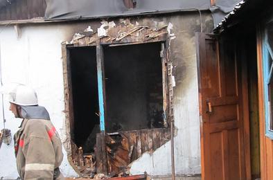 В выходной при пожаре погиб житель Коркино
