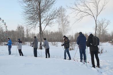Сотни коркинцев выходят на лыжные прогулки в парк