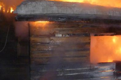 В Коркинском районе опять пожар и снова баня