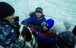 Ребята из Коркино познакомились с полицейскими собаками