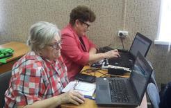 Коркинские пенсионеры прошли обучение компьютерной грамотности