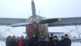 Школьники Коркино побывали на аэродроме