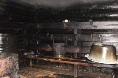 В Коркино вновь случился пожар в бане