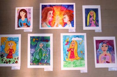 В коркинском выставочном зале открылась детская выставка