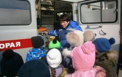 Детсадовцы Коркино познакомились с работой скорой помощи
