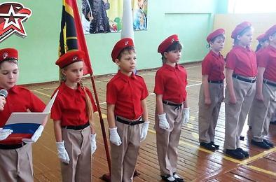 Школьников Коркино приняли в юнармейцы