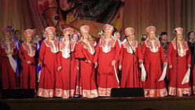 «Сударушка» выступила перед коркинцами с отчётным концертом