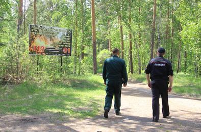 Коркинские полицейские занимаются профилактикой лесных пожаров