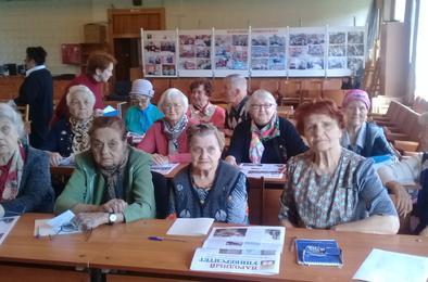 Коркинские долгожители встретились с челябинскими коллегами