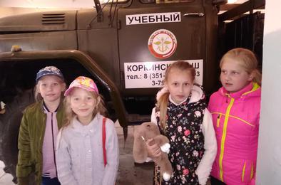 Коркинские ребятишки побывали в ДОСААФ