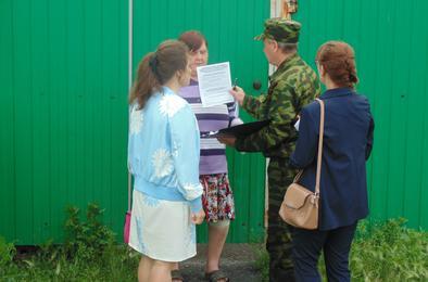 В Розинском поселении прошёл рейд по улицам частного сектора