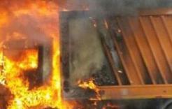 В Коркино неисправность электроборудования стала причиной возгорания мусоровоза