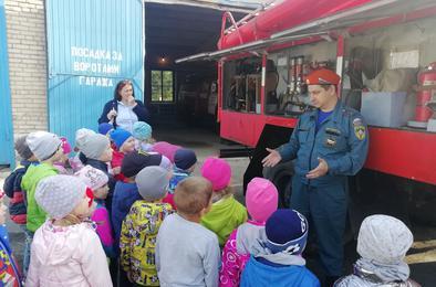 Детсадовцы Коркино решили стать пожарными