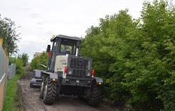 В Коркино продолжается грейдирование улиц частного сектора