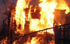 В Коркинском районе при пожаре пострадал мужчина